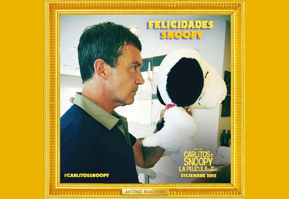 Antonio Banderas y Snoopy