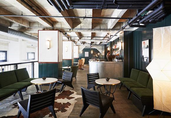 The Mezzanine es uno de los espacios comunes del Ace Hotel