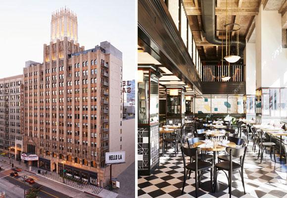 Ace Hotel, fachada y cafetería