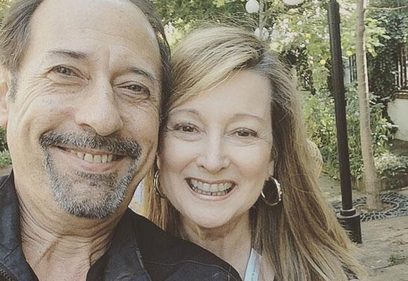 Guillermo Francella con nuestra colaboradora Amalia Enríquez