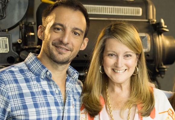 Alejandro Amenábar con nuestra colaboradora, Amalia Enríquez