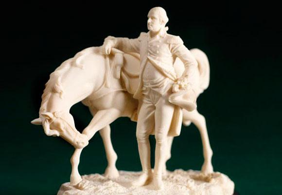 George Washington con su caballo. Haz clic para comprar el souvenir