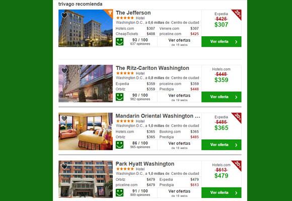 Sugerencias de hoteles en Washington. Haz clic para reservar