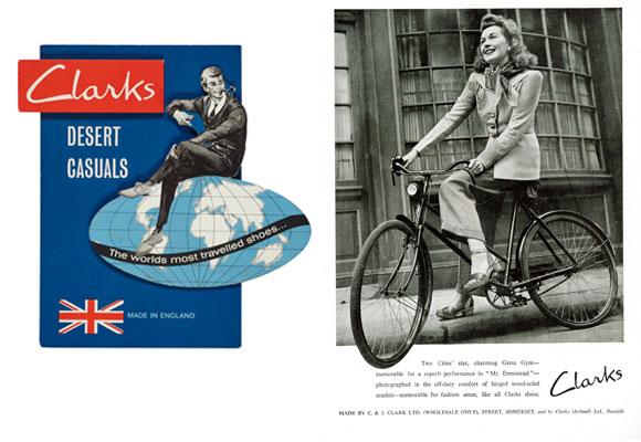 Antigua publicidad de Clarks