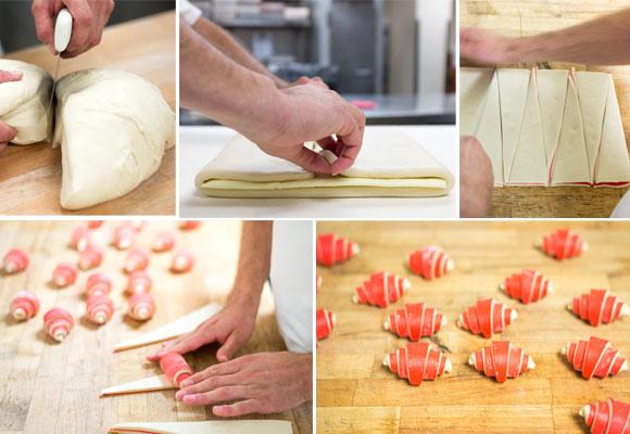 Elaboración de los croissants