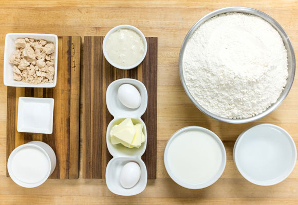 Productos ecológicos para la elaboración de los croissants
