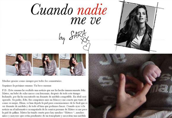 Imagen del blog de Sara Carbonero con los jerseys de La Señorita