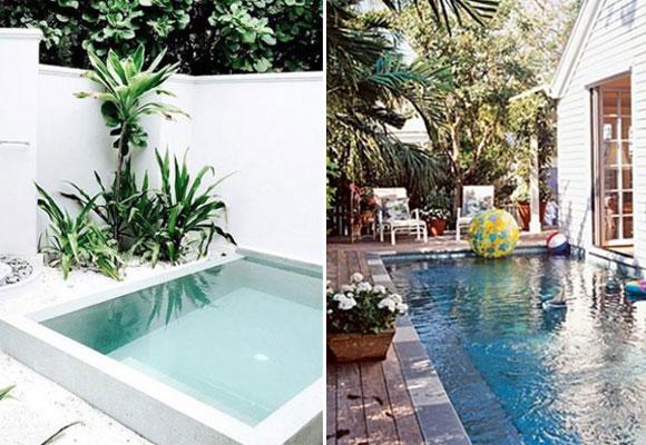 C mo tener una piscina en un patio peque o the luxonomist for Piscinas largas y estrechas