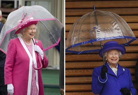 El paraguas transparente es de la firma