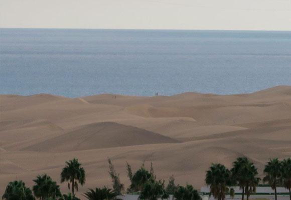 Dunas de Maspalomas desde el restaurante 360º del hotel