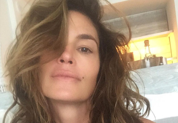 Cindy Crawdford sin maquillaje en Instagram