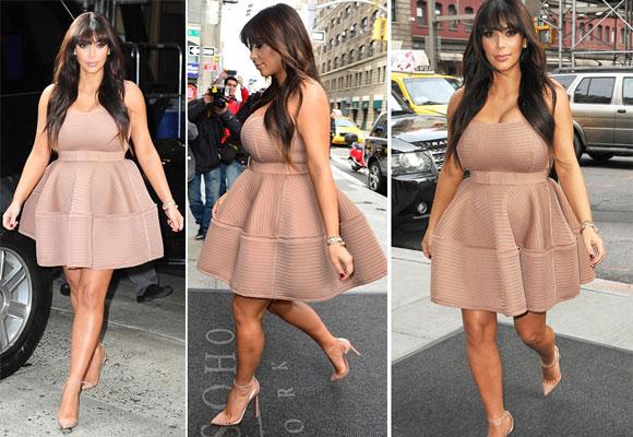 Kim con vestido de Lanvin