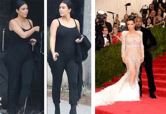 Kim de negro y con transparencias
