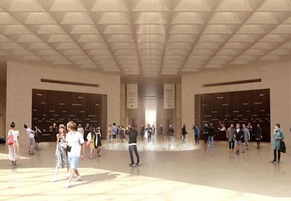 Interior del museo Louvre