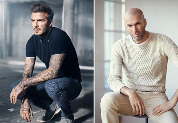 Los deportistas David Beckham y Zinedine Zidane son imagen de H&M y Mango respectivamente