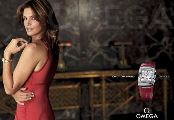 La firma relojera Omega fue la primera en utilizar la imagen de la top Cindy Crawford