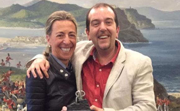 Antonio Casares tras recibir el premio a Mejor Sumiller del Año. Foto: Instagram Martin Berasategui