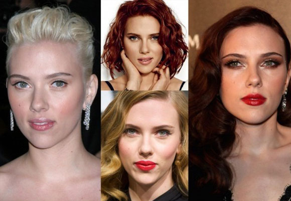 Scarlett Johanson con diferentes looks