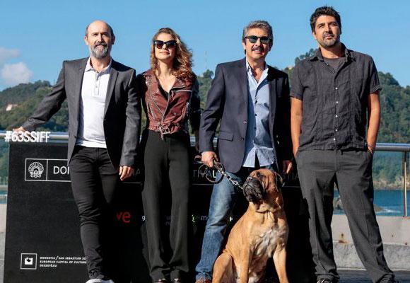 El equipo de la película en el Festival Internacional de Cine de San Sebastián