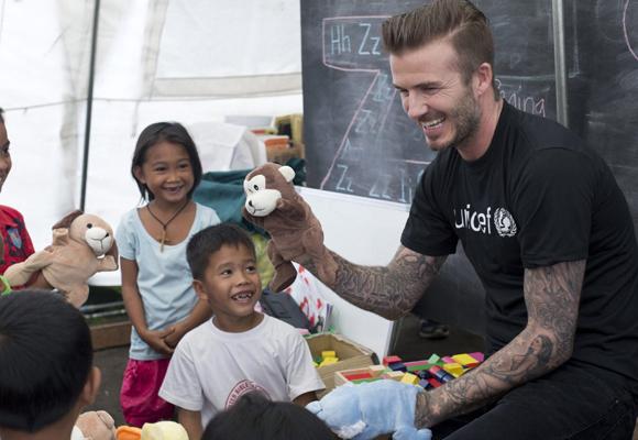 David Beckham es uno de los embajadores de Unicef