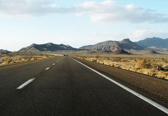 Quemando asfalto en Nevada