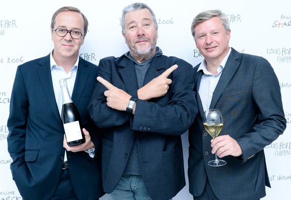 Jean Baptiste Lecaillon, Philippe Starck y Frederic Rouzaud presentaron el cava