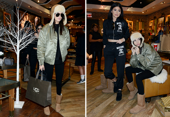 d60de137c69 Kendall and Kylie Jenner shop the UGG Classic Collection in NYC. Click to  buy the UGG Classic Collection