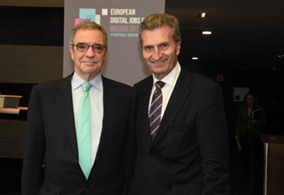 César Alierta asistió al encuentro de la Coalición Global por el empleo digital