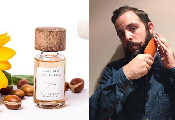 Hidrata la barba con el aceite de Avere la Barba y desenrédala con un cepillo de púas