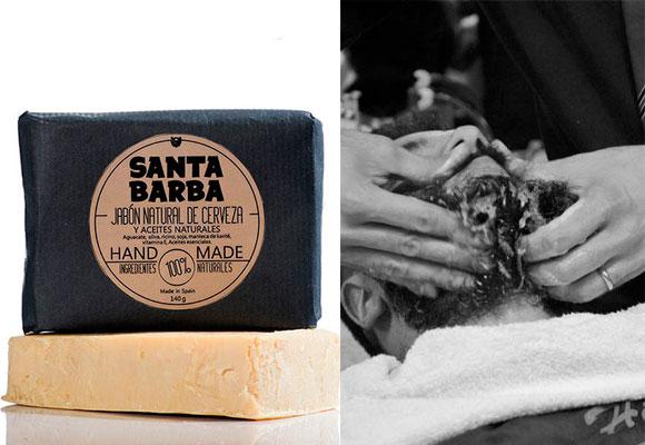 Lava la barba con agua caliente y jabón natural Santa Barba. Haz clic aquí para comprarlo