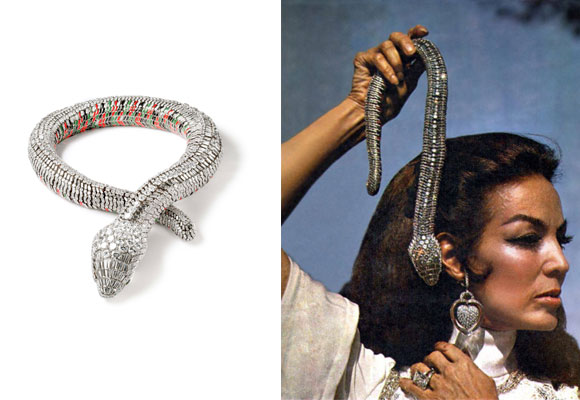 Impresionante el collar/serpiente de María Félix