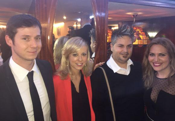 Álvaro Rojo y nuestros colaboradores Ana Villarrubia, Carlos Marín Alfaro y Nathalie Biain Ladera