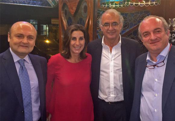 Encuentro económico con Marcos Mosteiro, Pilar García de la Granja, Pedro Pérez y Miguel Ángel Abad