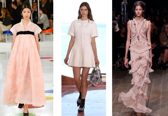 El rosa cuarzo en las colecciones de Chanel, Dior y Alexander McQueen para la S/S 2016