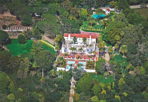 La mansión ocupa una superficie de 40.500 metros cuadrados