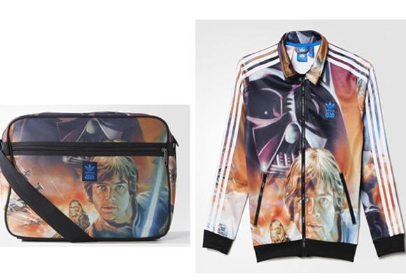 Bolso y sudadera de Adidas con imagen de Darth Vader y Luke Skywalker. Cómpralos aquí