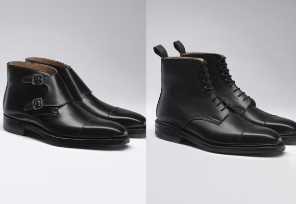 Dos modelos de bota creados especialmente para el agente Bond.
