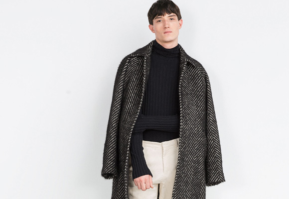 Abrigo de lana espiga. Pincha aquí para comprarlo