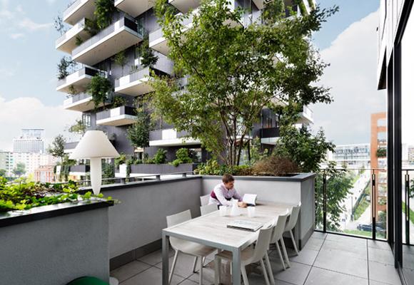 Disfrutar de un bosque en casa sólo es posible en Milán