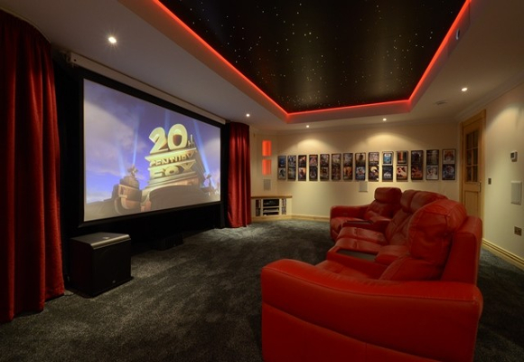 Star Ceiling In Home Cinema Room The