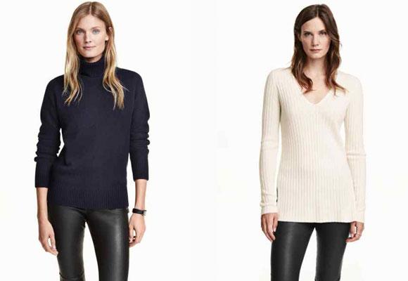 Jerseys de cachemir H&M. Haz clic para comprarlos
