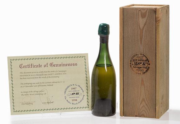 Champagne Heidsieck & Co Monopole 1907 'Goût Américain'