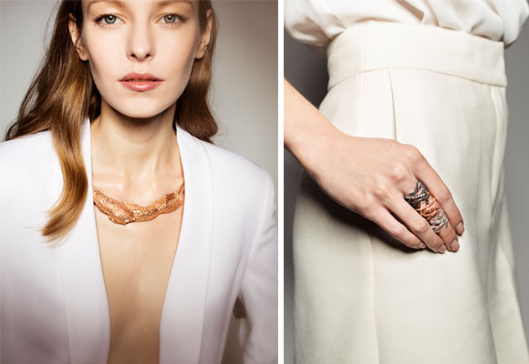 Jertwen, collar 'Musgo' y anillos 'Shine On'