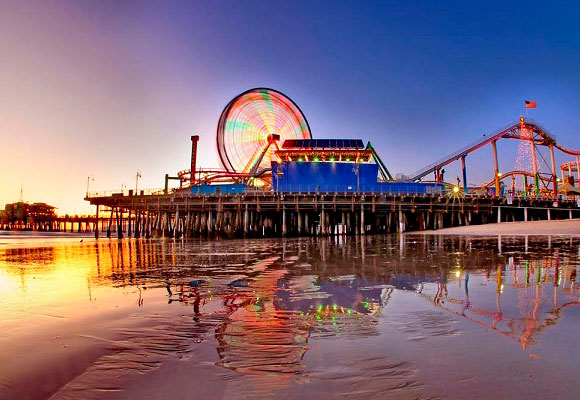 El icónico Pier de Santa Mónica