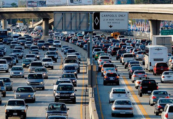 Tráfico espantoso en Los Ángeles