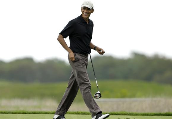 El golf es una de las actividades favoritas de Obama en sus vacaciones