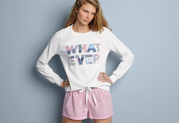 Pijama de la colección O/I de Oysho. Aquí puedes comprarlo