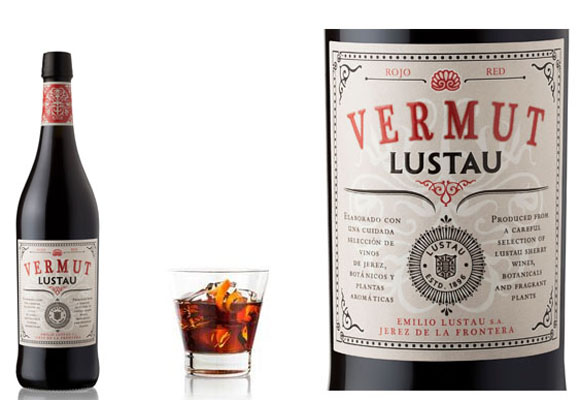 Ideal para beber en vaso corto y ancho el vermut Lustau