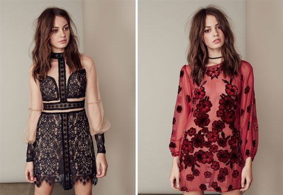 for love & lemons - lace mini dress y burgendy dress