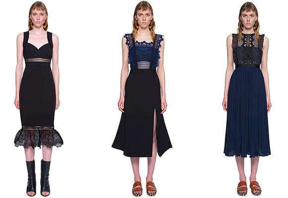 Las transparencias y el encaje no faltan en la colección. Compra aquí estos vestidos